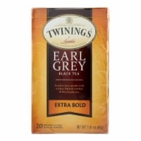 Twinings Tea Black Tea - Earl Grey Extra Bold - Case of 6 - 20 Count - Case of 6 - 20 BAG each