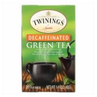 Twinings Tea Green Tea - Decaffeinated - Case of 6 - 20 Bags - Case of 6 - 20 BAG each