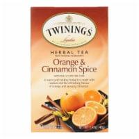 Twinings Tea Herbal Tea - Orange and Cinnamon Spice - Case of 6 - 20 Bags - Case of 6 - 20 BAG each