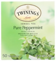 Twinings of London Herbal Tea Pure Peppermint, 3.53oz (Pack of 6)