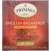 Twinings English Breakfast Decaffeinated Tea, 50 BG (Pack of 6) - 6