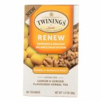 Twinings Tea - Tea Renew Fennel & Burdok - Case of 6 - 18 Count - Case of 6 - 18 BAG each