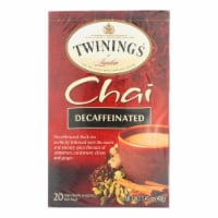 Twinings Tea Chai - Decaffeinated - Case of 6 - 20 Bags - Case of 6 - 20 BAG each