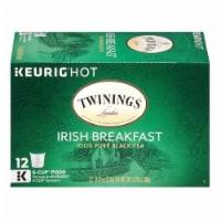 Twinings of London Irish Breakfast Black Tea K-Cup Packs 12-0.11 oz, (Pack of 6)