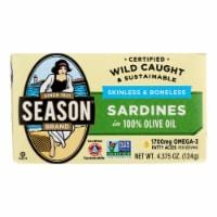 Season Sardines In Olive Oil  - Case of 12 - 4.375 OZ - 4.375 OZ