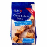Bahlsen Choco Leibniz Minis Milk Chocolate Crispy Cookies 4.4 OZ (Pack Of 12)