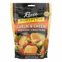 Reese Whole Grain Croutons - Garlic and Cheese - Case of 12 - 5 oz. - 5 OZ
