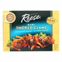 Reese Baby Clams - Smoked - 3.66 oz - Case of 10 - 3.66 OZ