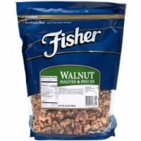 Fisher Chefs Naturals Halve and Piece Walnut, 2 Pound -- 3 per case.
