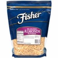 Fisher Chefs Naturals Blanched Slivered Almond, 2 Pound -- 3 per case.