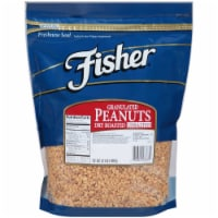 Fisher Chefs Naturals Dry Roasted Granulated Peanut, 2 Pound -- 3 per case.