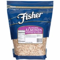 Fisher Blanched Slivered Toasted Almonds, 32 Ounce -- 3 per case. - 3-32 OUNCE