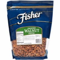 Fisher Chefs Naturals Frosted Medium Walnut Piece, 2 Pound -- 3 per case.