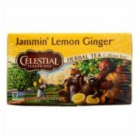 Celestial Seasonings Herbal Tea - Jammin' Lemon Ginger - Caffeine Free - Case of 6 - 20 Bags