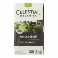 Celestial Seasonings Tea - Organic - Sencha Green - Matcha - Case of 6 - 20 BAG