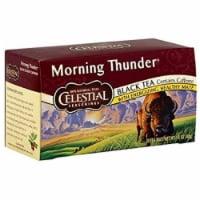 Celestial Seasonings Black Tea, Morning Thunder, 20 Count (Pack of 6)