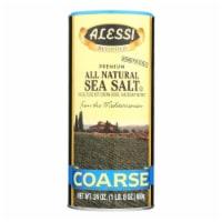 Alessi - Mediterranean Sea Salt - Coarse - Case of 6 - 24 oz. - Case of 6 - 24 OZ each
