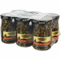 Alessi Capers in White Balsamic Vinegar - 6 ct / 3.5 oz