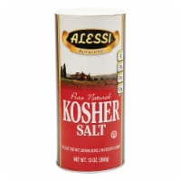 Alessi Authentic Pure Natural Kosher Salt, 13 oz [Pack of 6] - 6