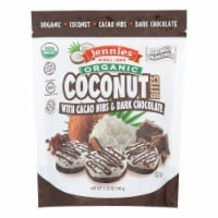 Jennies Coconut Bites - Organic - Cacao Chocolate - Case of 6 - 5.25 oz - Case of 6 - 5.25 OZ each