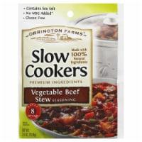 Orrington Farms Vegetable Beef Stew Slow Cookers Seasoning, 2.5 Oz (Pack of 12) - 12