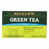 Bigelow Tea Green Tea with Blueberry - Case of 6 - 20 BAG - 20 BAG