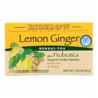 Bigelow Tea Herbal Tea - Plus Lemon Ginger - Case of 6 - 18 BAG