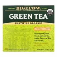Bigelow Tea Organic Green Tea - Decaf - Case of 6 - 40 BAG - 40 BAG