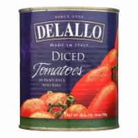 Delallo Imported Italian Diced Tomatoes  - Case of 12 - 28 OZ