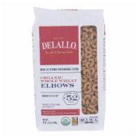 Delallo - 100% Organic Whole Wheat #52 Elbows - Case of 16 - 1 lb. - 1 LB