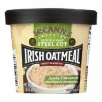 Mccann's Irish Oatmeal Instant Oatmeal Cup - Apple Cinnamon - Case of 12 - 1.9 oz - Case of 12 - 1.9 OZ each