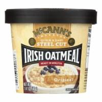 Mccann's Irish Oatmeal Instant Oatmeal Cup - Original - Case of 12 - 1.41 oz - Case of 12 - 1.41 OZ each