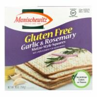 Manischewitz Garlic Rosemary Gluten Free Matzo Style Squares  - Case of 12 - 10 OZ