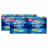 Tampax Pearl Unscented Light/Regular/Super absorbency Tampons 188 Count