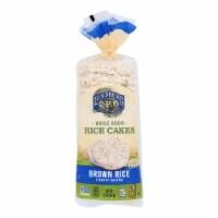 Lundberg Family Farms - Rice Cake Brown Salt - Case of 6-8.5 OZ - Case of 6 - 8.5 OZ each