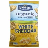 Lundberg Family Farms Organic Rice Cakes Minis White Cheddar, 5oz (Pack of 6) - 6