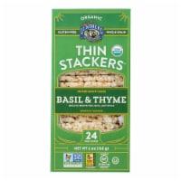Lundberg Family Farms - Rice Ck Basil Thyme Thin - Case of 6-6 OZ - Case of 6 - 6 OZ each