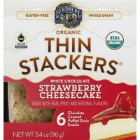 Lundberg Family Farms Organic White Chocolate Strawberry Cheesecake, , 3.4oz (Pack of 6)