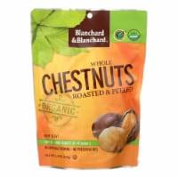 Blanchard & Blanchard Organic Whole Chestnuts - Roasted and Peeled - Case of 12 - 5.2 oz. - 5.2 OZ