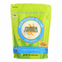 Florida Crystals Organic Powdered Sugar - Powdered Sugar - Case of 6 - 16 oz.