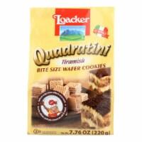 Loacker Quadratini Tiramisu Bite Size Wafer Cookies  - Case of 6 - 7.76 OZ - Case of 6 - 7.76 OZ each