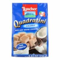 Loacker Quadratini Bite Size Wafer Cookies In Coconut  - Case of 6 - 8.82 OZ - Case of 6 - 8.82 OZ each