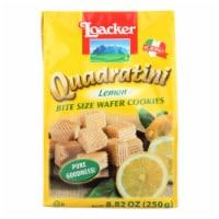 Loacker, Quadratini Lemon Bite Size Wafer Cookies - Case of 6 - 8.82 OZ - Case of 6 - 8.82 OZ each