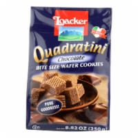 Loacker Quadratini Bite Size Chocolate Wafer Cookies  - Case of 6 - 8.82 OZ - Case of 6 - 8.82 OZ each