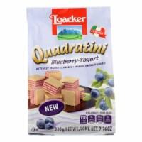 Loacker Quadratini - Wfr Cky Quad Bluebery Yg - Case of 6 - 7.76 OZ - Case of 6 - 7.76 OZ each