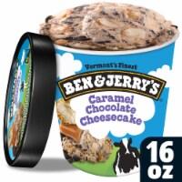 Ben & Jerry's, Caramel Chocolate Cheesecake Truffles Ice Cream, Pint (8 count)