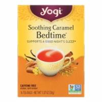 Yogi Bedtime Herbal Tea Caffeine Free Soothing Caramel - 16 Tea Bags - Case of 6 - Case of 6 - 16 BAG each