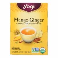 Yogi Tea - Organic - Mango Ginger - Case of 6 - 16 BAG - Case of 6 - 16 BAG each