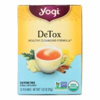 Yogi Tea Detox - Caffeine Free - 16 Tea Bags - Case of 1 - 16 BAG each