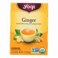 Yogi Tea Organic - Ginger - 16 Tea Bags - Case of 1 - 16 BAG each